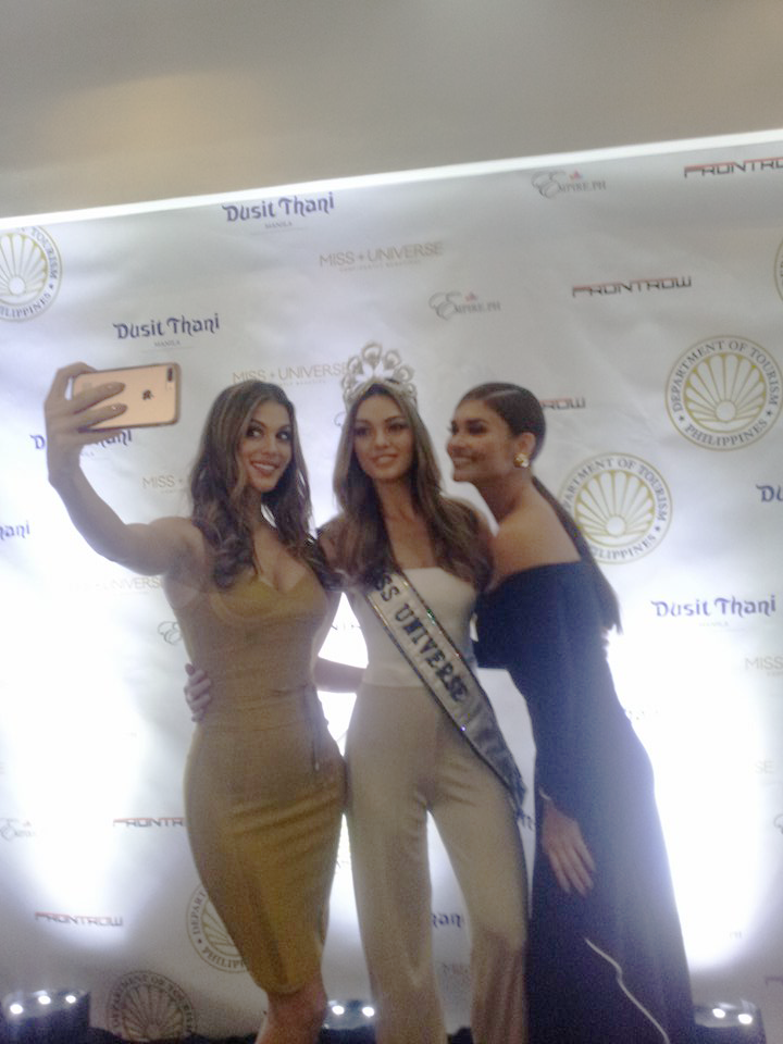 Ms. Iris Mittenaere - 2016 Miss Universe (From Left), Demi-Leigh Nel-Peters (of South Africa) - Miss Universe 2017