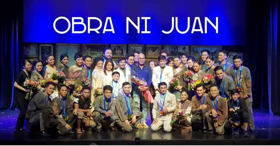 The King of Talk with the cast of Obra Ni Juan