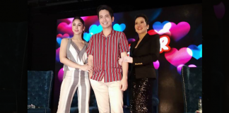 with her co-stars Joshua and Julia