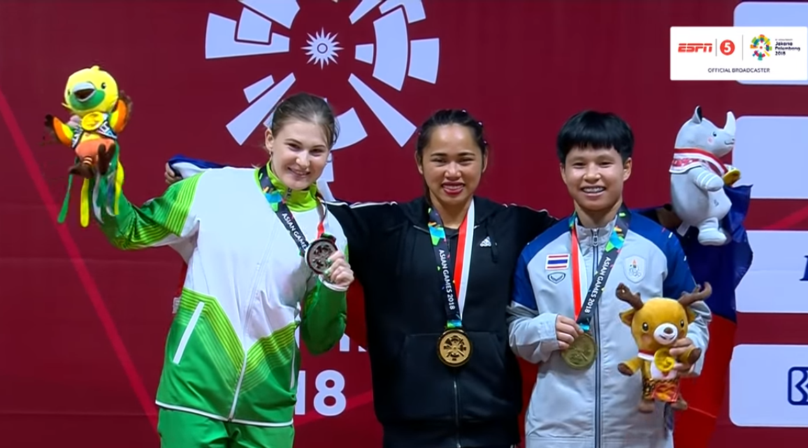 Hidilyn Diaz,1st Gold of Team Philippines at Asian Games,2018 asian games,Philippines first gold medal of the Asian Games 2018