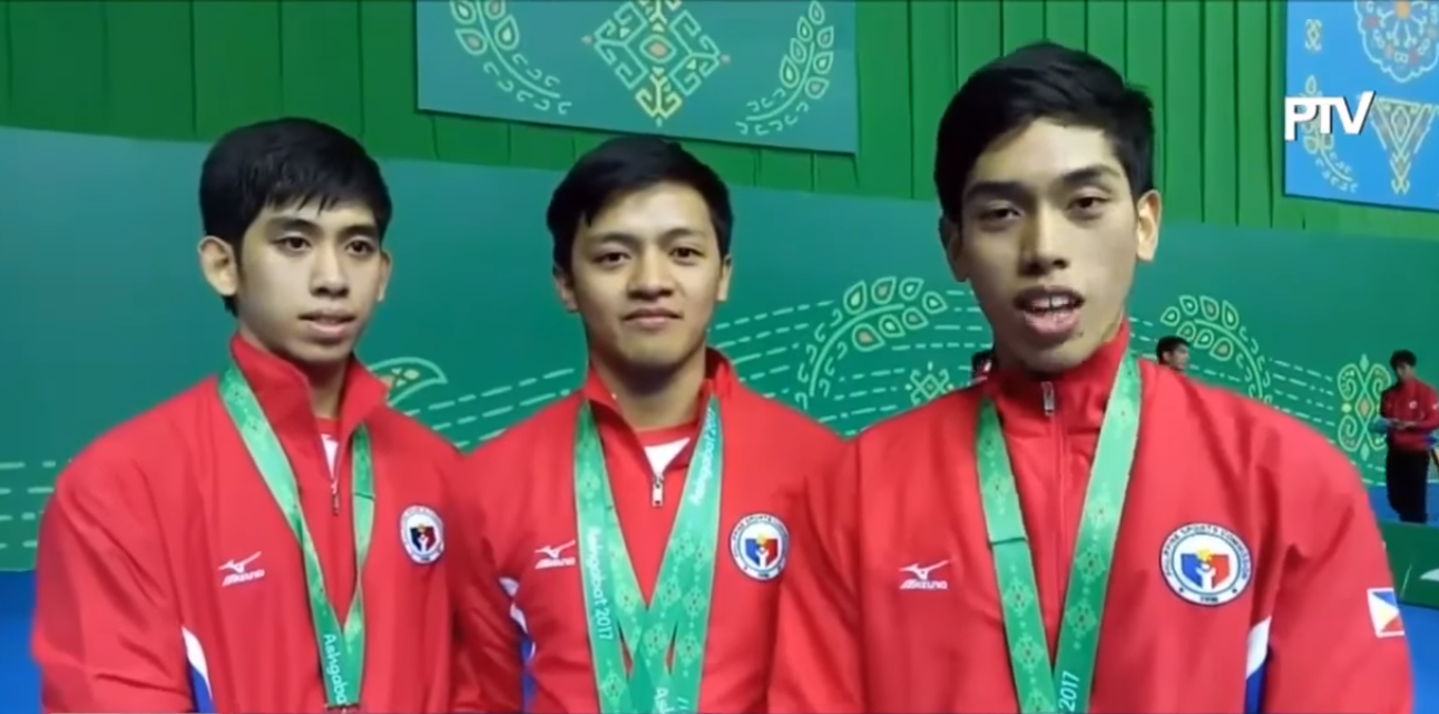 male taekwondo poomsae winner bronze