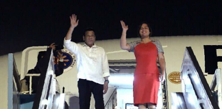 Arrival of President Duterte