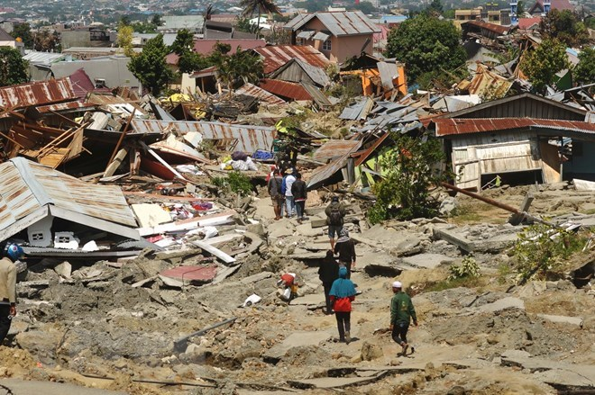 the earthquake and tsunami in Palu