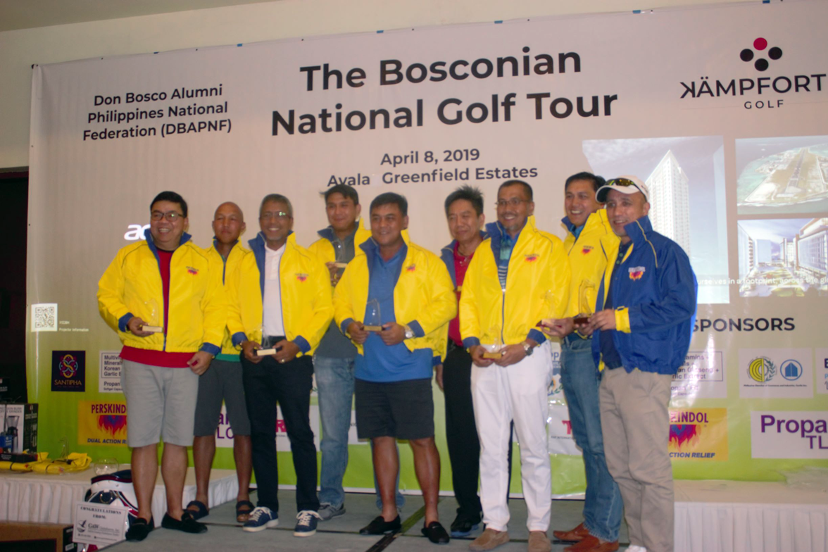 The winners of Don Bosco Federation Open golf tournament last April 2019